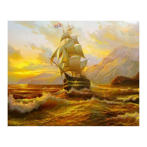 "5D Antique ship diamond artwork Kit - 14.4""x11.7"" - DIY Diamond Art - Artsndecors"