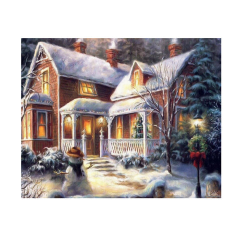 "5D Christmas Villa diamond artwork Kit -  15.6""x11.7"" - DIY Diamond Art - Artsndecors"