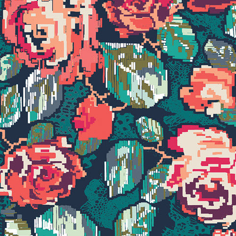 Art Gallery Fabrics - Flowered Engrams Ornate