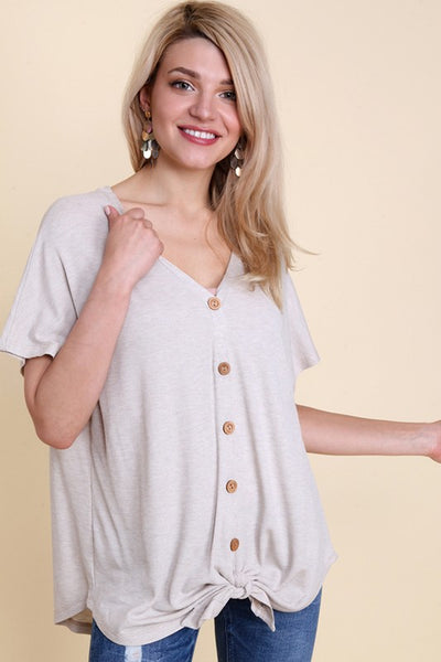 Oversized Button Front Dropped Shoulder Thermal