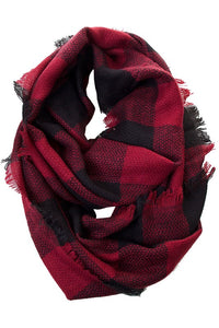 Red Buffalo Check Infinity Scarf