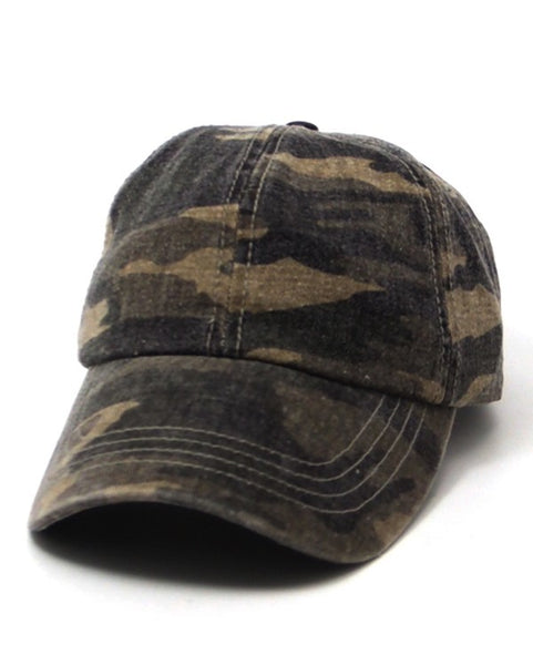 Heavy Washed Camo Cap