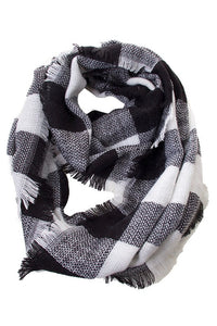 White Buffalo Check Infinity Scarf