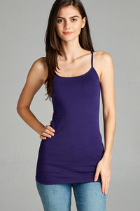 Basic Cami with Adjustable Spaghetti Strap
