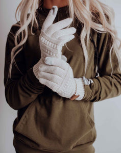 Ivory Knit Gloves