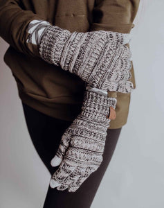 Heathered Tan Knit Gloves