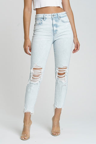 Super High Rise Cropped Mom Jean