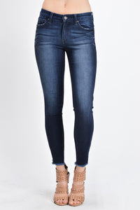 Kancan Non-Distressed Skinny Jeans with Ankle Zipper