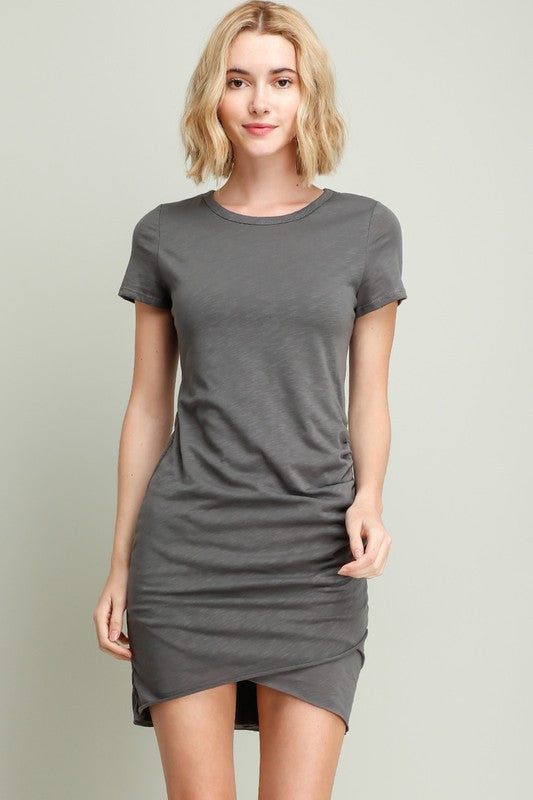 Ruched T-Shirt Dress
