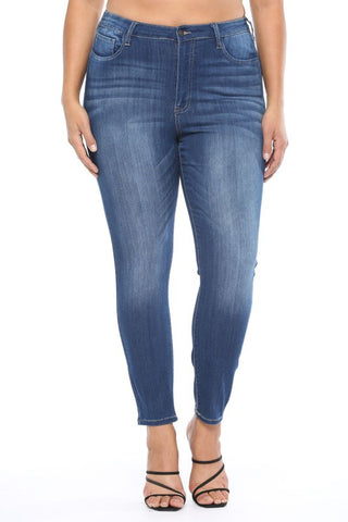 High Rise Rayon Ankle Skinny