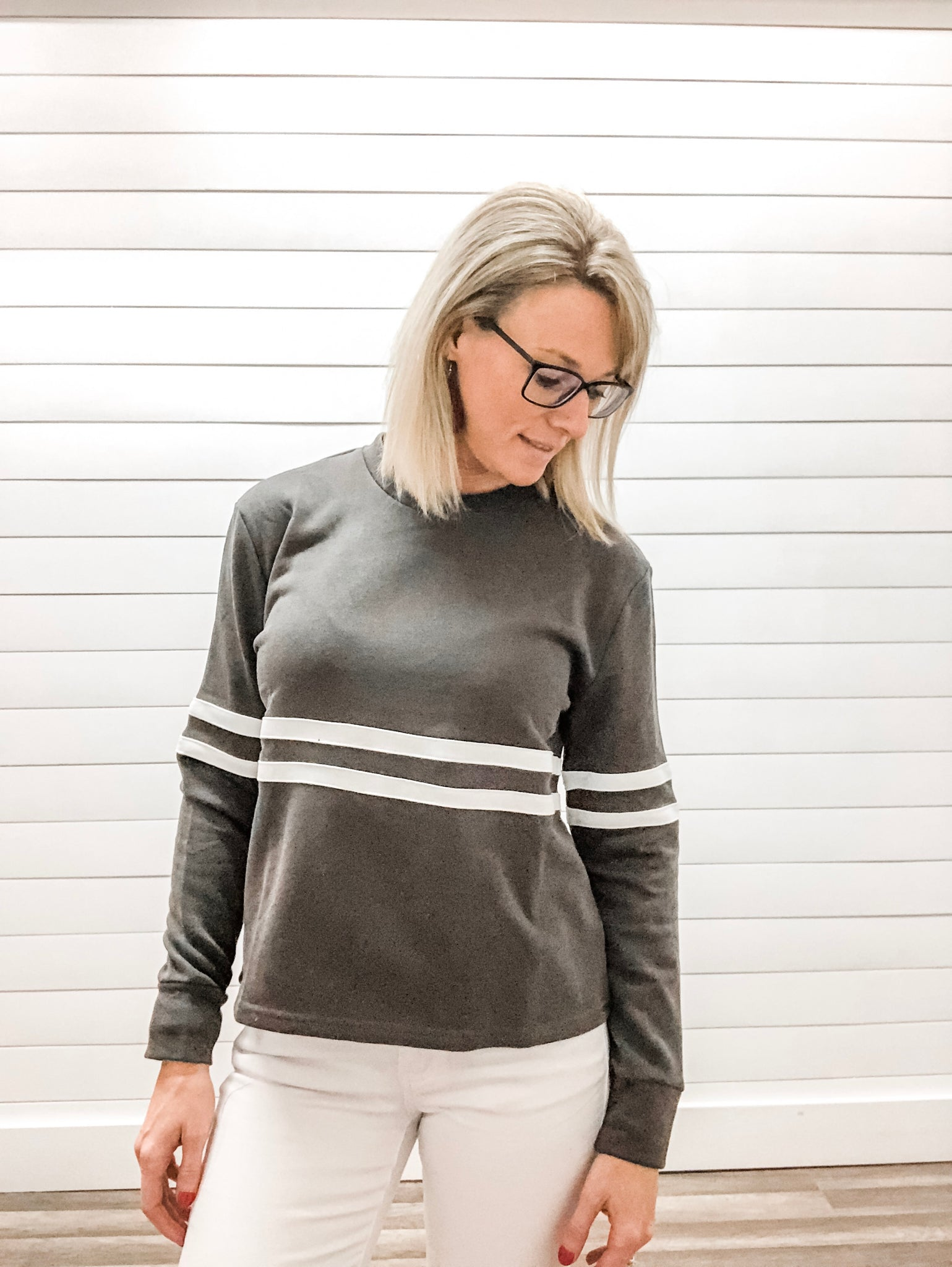 Jersey Striped Sweatshirt