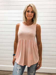 Sleeveless Tiered Jersey Tunic Top