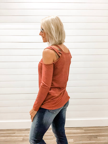 Vintage Open Shoulder Top