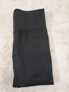 Black Brushed, Fleece Lined Leggings with High Waist
