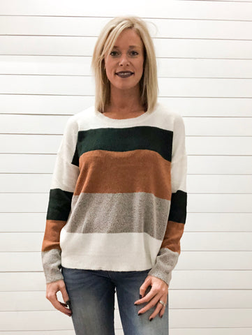 Multiple Color Block Sweater Top