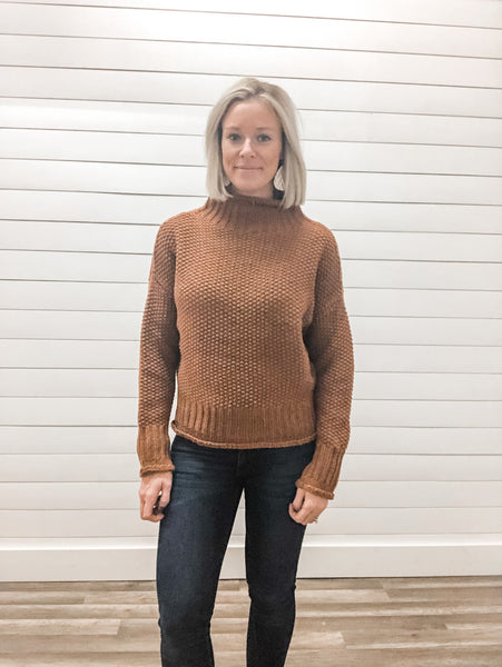 Long Sleeve Turtle Neck Sweater Top