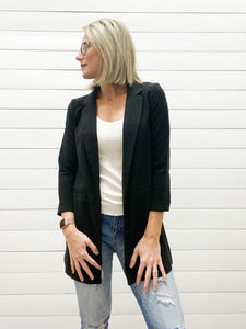 Basic Long Sleeve Blazer Jacket