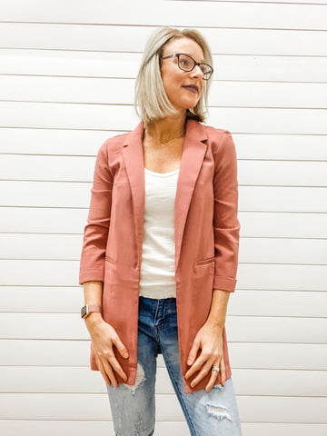 Basic Long Blazer Jacket