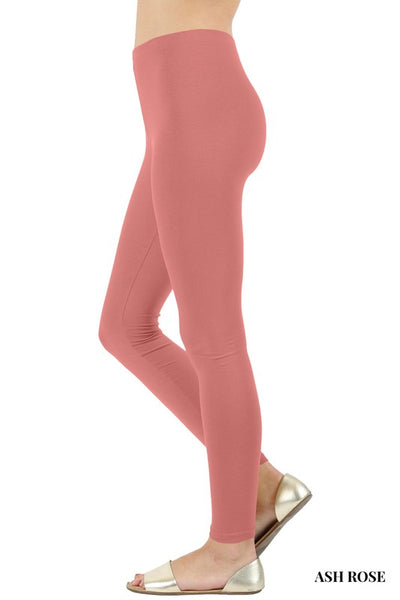 Premium Cotton Full Length Knit Leggings with Elasticized Waist