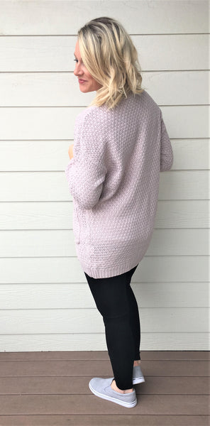 Side Pocket Open Cardigan