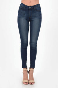 High Waisted Rayon Skinny Jeans