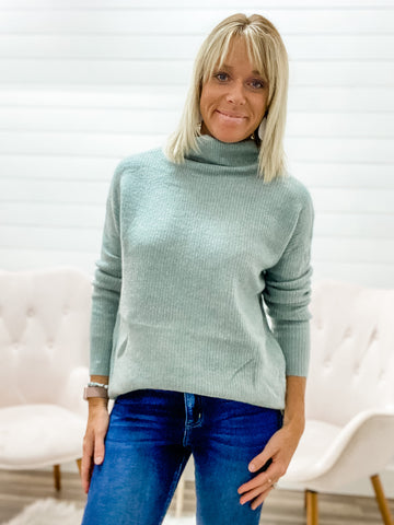 Long Sleeve, Super Soft Tunic Sweater with Cowl Neck
