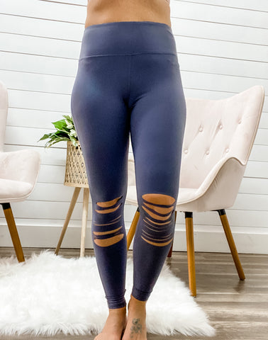 Multi Knee Cut Out Leggings