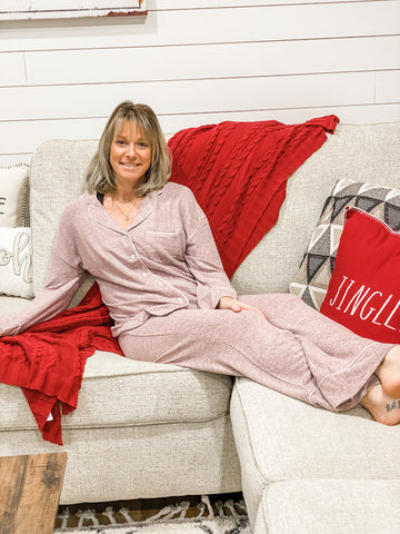 Casual Two Piece Lounge Wear Pajama Set