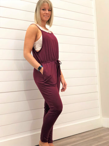 French Terry Camisole Romper Jumpsuit Pants