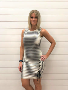 Chic Sleeveless Striped Dress