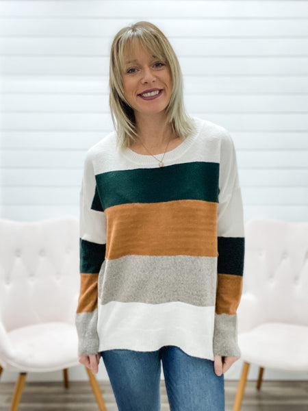 Multiple Colorblock Sweater