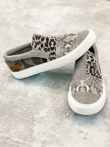 Snakeskin Blowfish Slip On Tennys