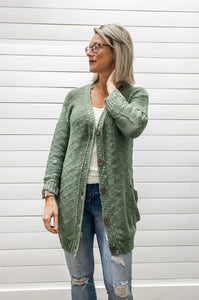 Popcorn Texture Yarn Knit Long Cardigan