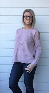 Young Contemporary, Long Sleeve, Cold Shoulder Sweater