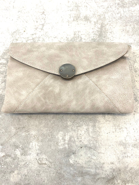 Pale Grey Vanessa Modern Crossbody