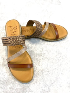 Blowfish Slip On Dycut Strappy Sandal