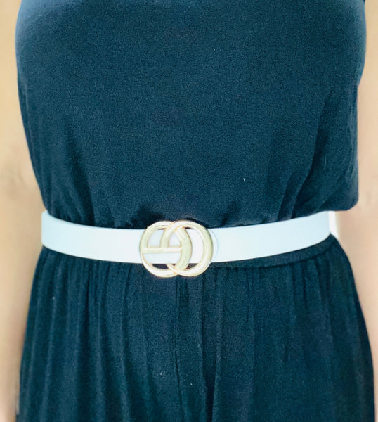 Stylish Buckle Accent Belt