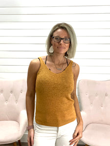 Double V, Sleeveless, Lightweight Sweater Top