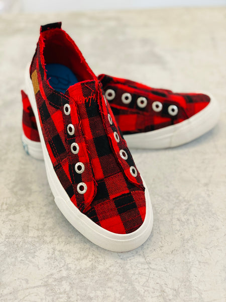 Buffalo Plaid Blowfish Tennys