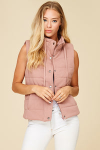 French Terry Padded Vest with Pockets