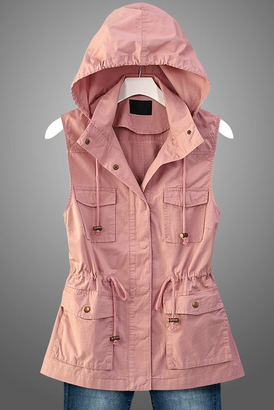 Sleeveless Anorak Vest with Pockets