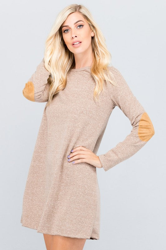 Long Sleeve Dress with Elbow Patch