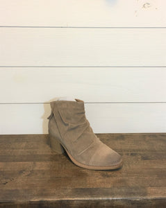 Taupe Ruched Booties