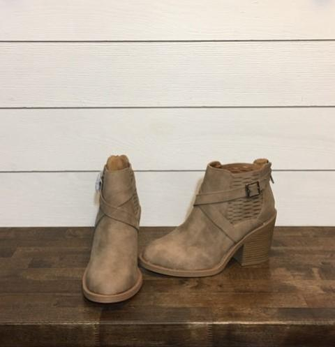 Stone Bootie with Side Buckle