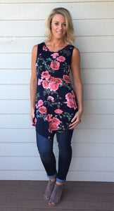 Sleeveless Tank Tunic Top