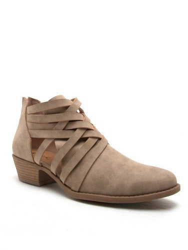 Women's Crisscross Low Ankle Booties