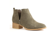 Taupe Booties with Side Slit