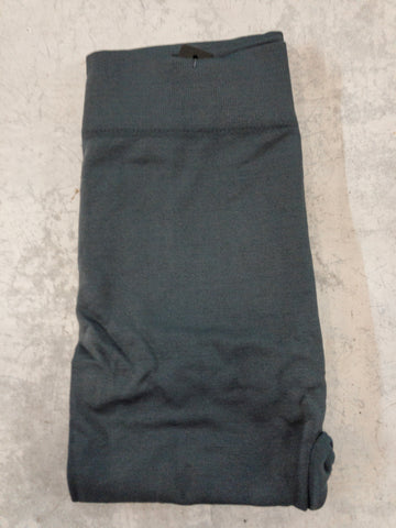 Charcoal Brushed, Fleece Lined Leggings with High Waist