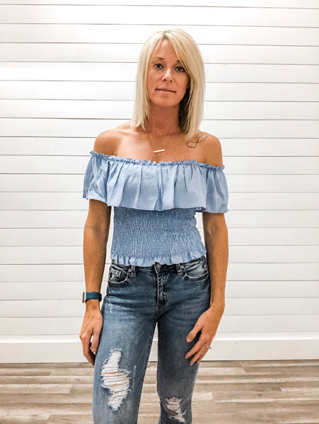 Smock Off Shoulder Top