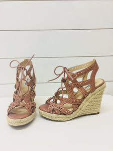 Not Rated Lace Up Wedges
